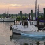 About Mount Pleasant: photo of shrimp boats in Mount Pleasant, South Carolina