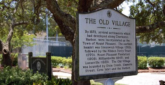 Old Village Mount Pleasant, SC historical marker
