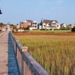a walkway over the marsh in RiverTowne Country Club, Mount Pleasant